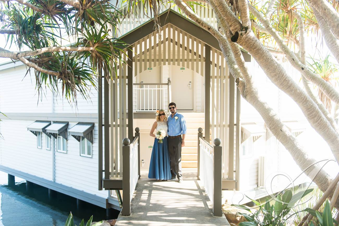 Elope to North Shore Beach, Twin Waters, Qld and stay at the Twin Waters Resort - walk to your wedding!